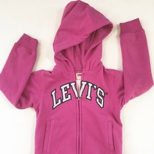 New with tags LEVI''S  Kids  ZIP HOODIE 6 MED